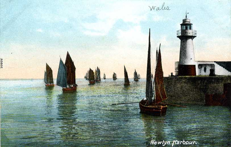 Luggers leaving Newlyn