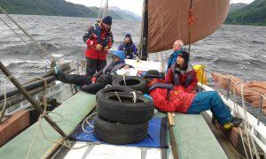 Running downwind, Loch Ness