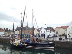 Lying outside Reaper, a 70' fifie in Anstruther
