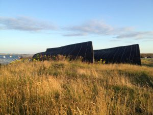 Upturned boats at Lindisfarne