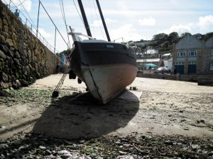 Drying out on the beach in Mousehole