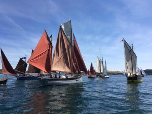 Falmouth Classics, 2018. Brittania/Grace, Guiding Star, Our Boys