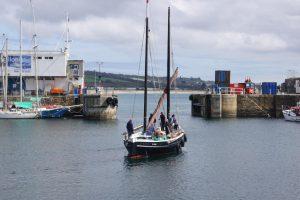 Leaving Penzance wet dock