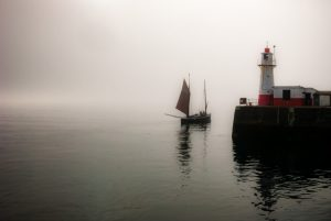 Leaving Newlyn in the fog, 2015