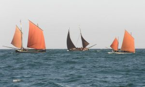 With Ripple (centre) and the jumbo Celeste off St Ives